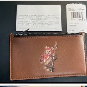 New in Box COACH Ewok Star Wars Wallet coin purse